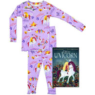 Books to Bed Uni the Unicorn Pajamas & Book Set