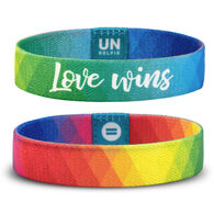 Unselfie Women's Love Wins Prismatic Pattern Wrist Band