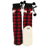 Lazy One Women's Moose Plaid Mukluk Slipper