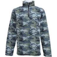Pacific Teaze Men's Camo Softy 1/4-Zip Fleece Long-Sleeve Shirt