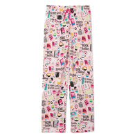 Hatley Little Blue House Women's Book Club Jersey Pajama Pant