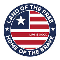 Life is Good Land Of The Free Coin Small Die Cut Decal