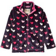 Hatley Girl's Lovey Hearts Fuzzy Fleece Jacket