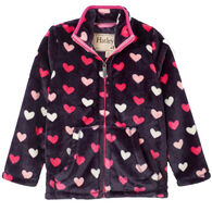 Hatley Toddler Girl's Lovey Hearts Fuzzy Fleece Jacket
