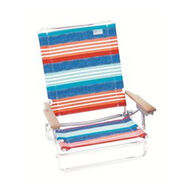 RIO Brands Denim Nation 5-Position Lay Flat Beach Chair