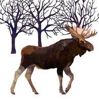 Paperproducts Design Winter Moose Beverage Napkin
