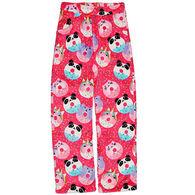 Candy Pink Girls' Animal Donut Pajama Pant