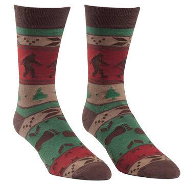 Sock It To Me Mens Big Foot Sweater Crew Sock