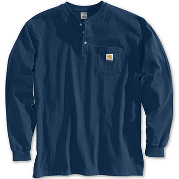 Carhartt Mens Big & Tall Workwear Henley Long-Sleeve Shirt