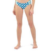 Wave Life Women's Aqua Spray Reversible Fashion Swim Bottom