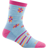 Darn Tough Vermont Girls' Indie Floral Crew Light Cushion Sock