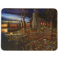 Rivers Edge Cabin Scene Cutting Board