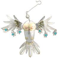 Pilgrim Imports Snowy Owl Ornament