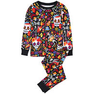 Hatley Toddler Boy's Little Blue House Day Of The Dead Pajama Set