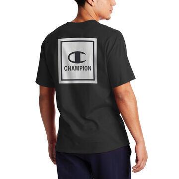 Champion Mens Cloud Wash Box Classic Graphic Short-Sleeve T-Shirt