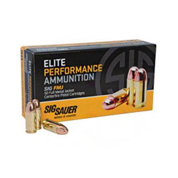 SIG Sauer Elite Performance 38 Super +P 125 Grain FMJ Pistol Ammo (50)