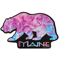 Blue 84 Swedish Bear Maine Sticker