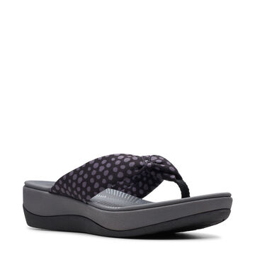 Clarks Womens Arla Glison Fabric Cloudstepper Thong Sandal