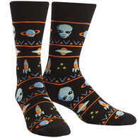 Sock It To Me Men's Alien Sweater Sighting Crew Sock