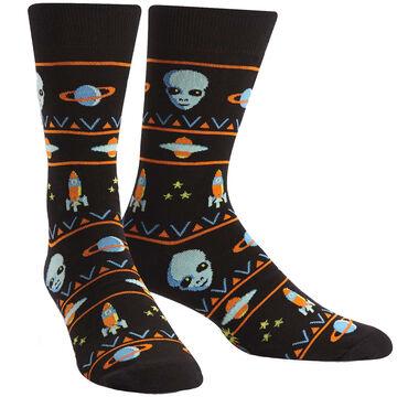 Sock It To Me Mens Alien Sweater Sighting Crew Sock