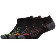New Balance Men's Cushioned Performance Low Cut Sock, 3/pk