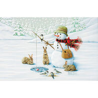 Pumpernickel Press Ice Fishing Deluxe Boxed Greeting Cards