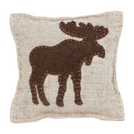"Paine Products 3.5"" x 3.5"" Moose Applique Balsam Pillow"