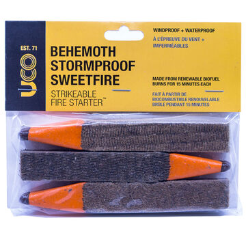 UCO Behemoth Stormproof Sweetfire Strikeable Fire Starter - 3 Pk.