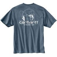 Carhartt Men's Workwear Logo Fish Graphic Pocket Short-Sleeve T-Shirt