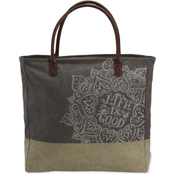 Life is Good Rich Brown Dream Mandala All-In Tote