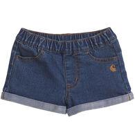 Carhartt Toddler Girl's Denim Short