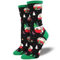 Socksmith Design Women's Christmas Camper Crew Sock