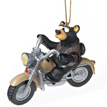 Big Sky Carvers Bear Harley Ornament