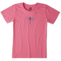Life is Good Women's Beautiful Dragonfly Crusher Short-Sleeve T-Shirt