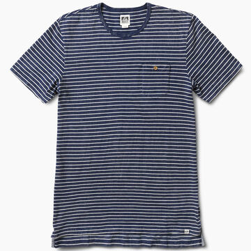 Reef Mens Sail Striped Crew Neck Short-Sleeve Shirt