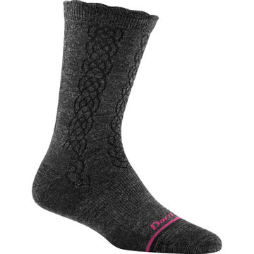 Darn Tough Vermont Womens Cable Basic Crew Light Cushion Sock