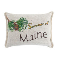 "Paine Products Balsam Fir 5"" x 4"" Maine Souvenir Pillow"