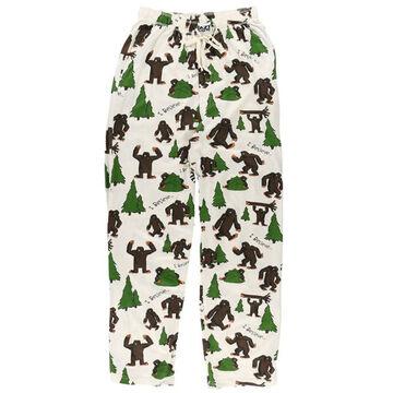 Lazy One Mens I Believe Bigfoot Pajama Pant