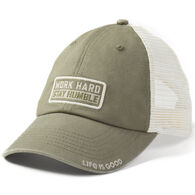 f1c587d5596 Life is Good Men s Work Hard Soft Mesh Chill Cap