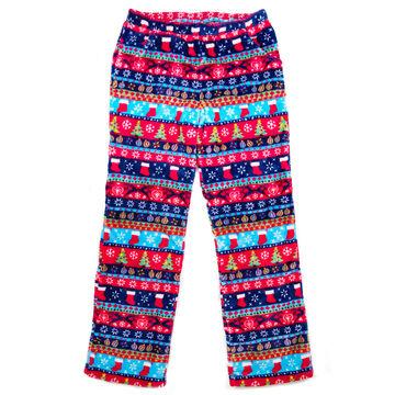 Candy Pink Girls Xmas Stripe Pajama Pant