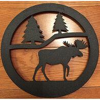 Sherwood Products Black Moose Steel Trivet