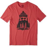 Life is Good Men's Outdoor Beard Smooth Short-Sleeve Sleep T-Shirt