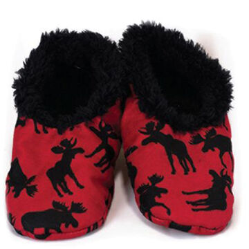 Lazy One Boys' & Girls'  Classic Moose Fuzzy Feet
