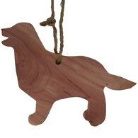 Chichester Retriever Dog Cedar Silhouette Ornament