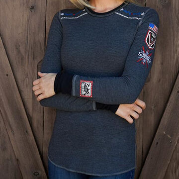 Alp N Rock Womens Team USA Crew Neck Long-Sleeve Top