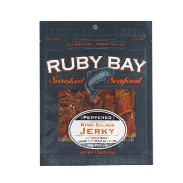 Ruby Bay Peppered Salmon Jerky, 1.25 oz.