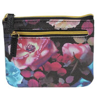 Buxton Women's Midnight Roses - RFID Large Coin Card Case
