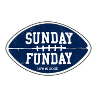 Life is Good Sunday Funday Decal