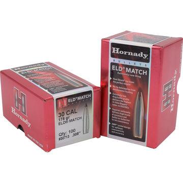 Hornady ELD-Match 30 Cal. 178 Grain .308 Heat Shield Tip BT Bullet (100)