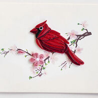 Quilling Card Cardinal Gift Enclosure Card